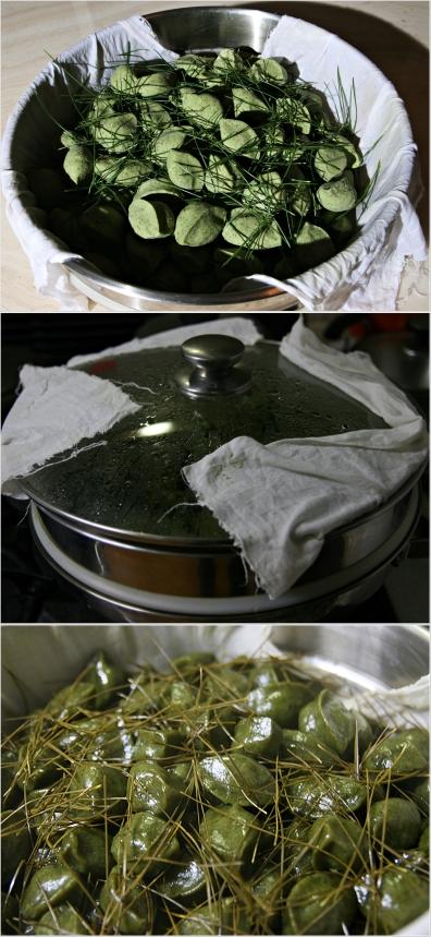 4 송편 찌기