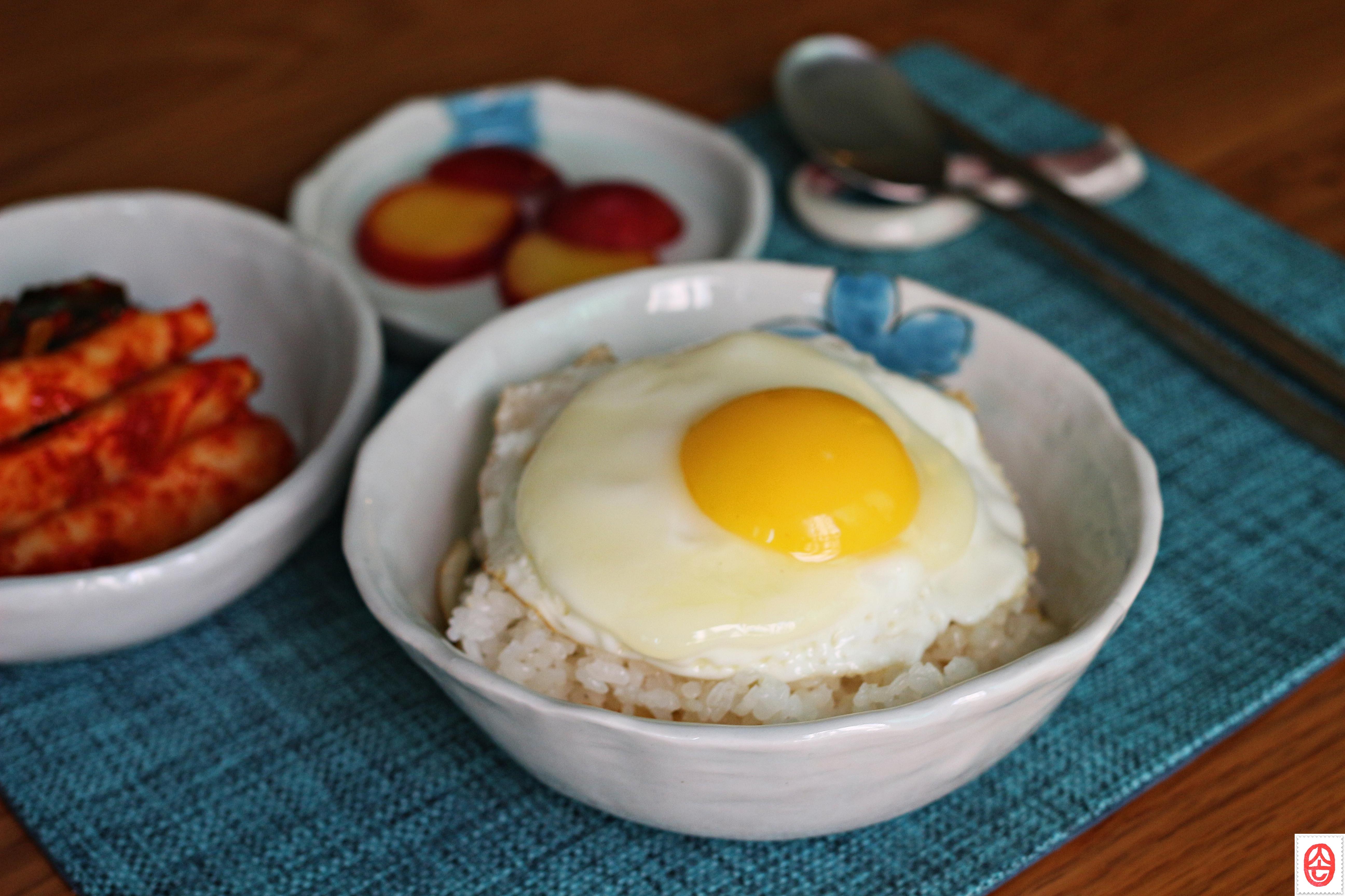 Egg Boiled Rice Rice Eggs Soy Sauce Oil